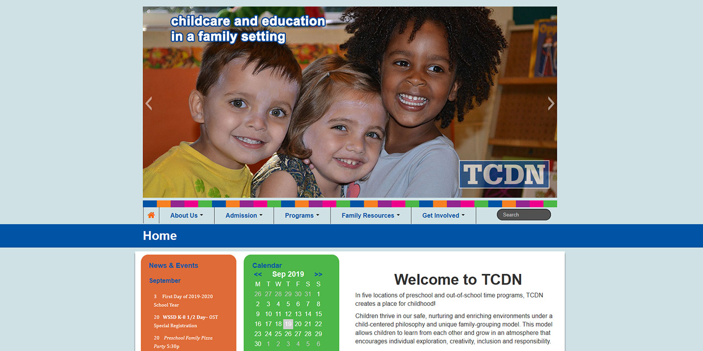 Web Design of Trinity Cooperative Daycare and Nursery